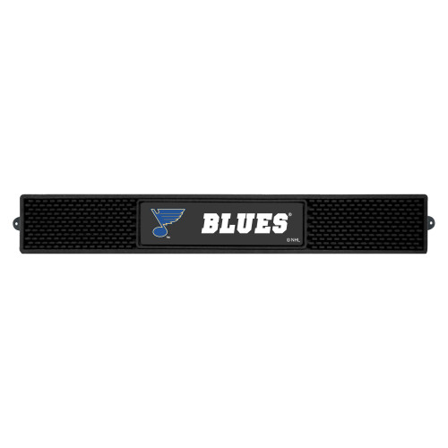 """3.25"""" x 24"""" Black and White NHL St. Louis Blues Drink Mat - IMAGE 1"""