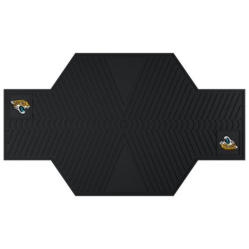 "42"" x 82.5"" Black NFL Jacksonville Jaguars Motorcycle Parking Mat Accessory - IMAGE 1"