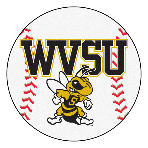 """27"""" Red and White NCAA West Virginia State University Yellow Jackets Baseball Mat - IMAGE 1"""