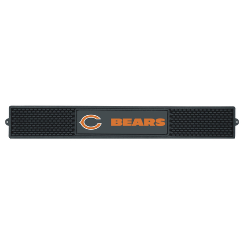 """3.25"""" x 24"""" Black NFL Chicago Bears Drink Mat Tailgate Accessory - IMAGE 1"""