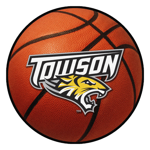 "27"" Orange and White NCAA Towson University Tigers Basketball Mat - IMAGE 1"