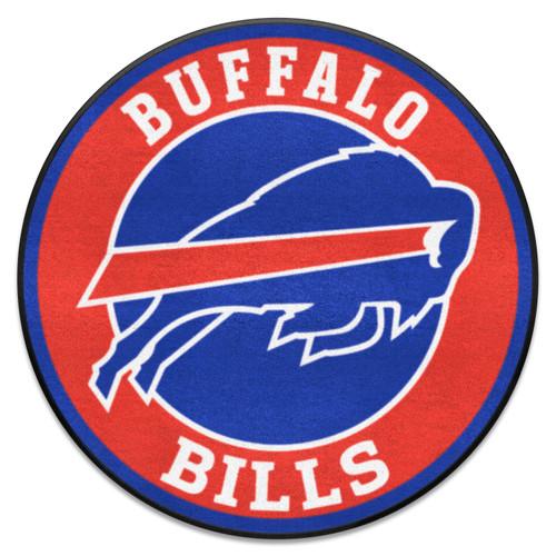 "27"" Blue and Red NFL Buffalo Bills Roundel Door Mat - IMAGE 1"