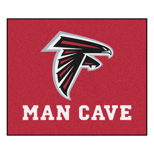 """59.5"""" x 71"""" Red NFL Atlanta Falcons Man Cave Tailgater Area Rug - IMAGE 1"""