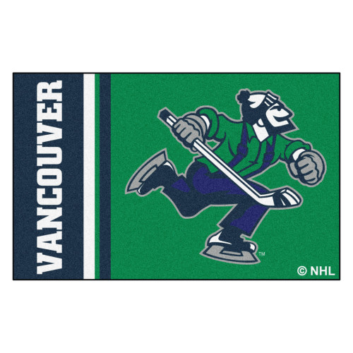 """19"""" x 30"""" Green and Blue NHL Vancouver Canucks Starter Mat Area Rug - IMAGE 1"""