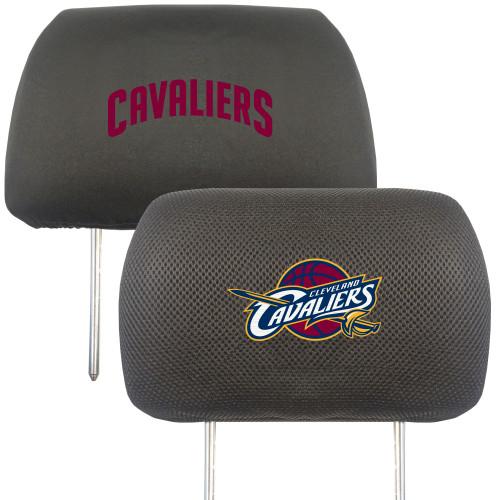 "13"" Black NBA Cleveland Cavaliers Head Rest Cover Automotive Accessory - IMAGE 1"