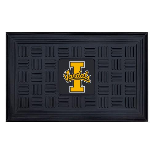 """19.5"""" x 31.25"""" Black and Yellow NCAA University of Idaho Vandals 3-D Team Medallion Welcome Door Mat - IMAGE 1"""