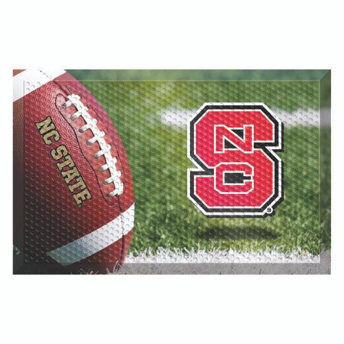 "Red and Green NCAA North Carolina State University Wolfpack Shoe Scraper Doormat 19"" x 30"" - IMAGE 1"