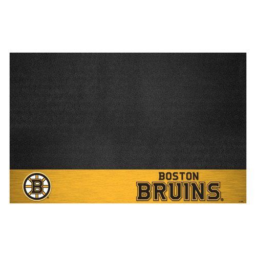 """26"""" x 42"""" Gold and Black NHL Boston Bruins Grill Outdoor Tailgate Mat - IMAGE 1"""
