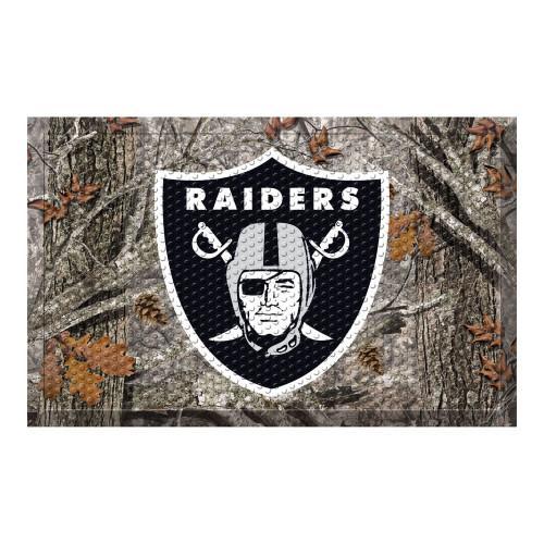 "Gray and Black NFL Las Vegas Raiders Shoe Scraper Doormat 19"" x 30"" - IMAGE 1"