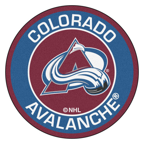 """27"""" Blue and Red NHL Colorado Avalanche Rounded Door Mat - IMAGE 1"""