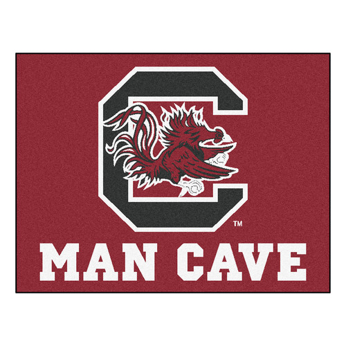 "33.75"" x 42.5"" Red and White NCAA University of South Carolina Gamecocks Rectangular Mat Area Rug - IMAGE 1"