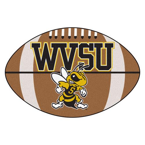 "20.5"" x 32.5"" Brown NCAA West Virginia State University Yellow Jackets Football Mat - IMAGE 1"