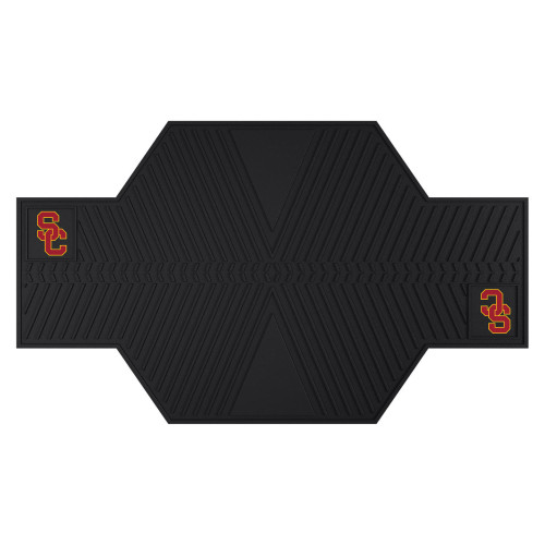 """42"""" x 82.5"""" Black and Red NCAA University of Southern California Trojans Motorcycle Mat Accessory - IMAGE 1"""