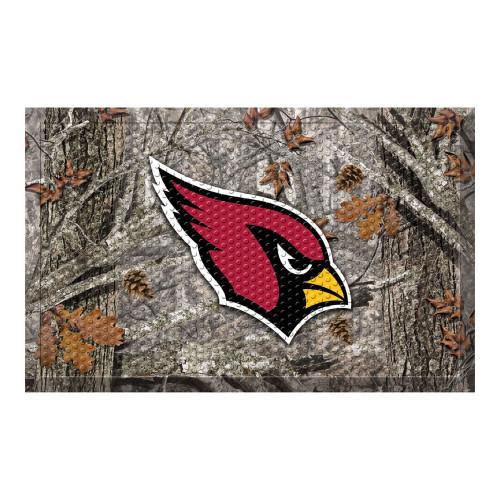 """19"""" x 30"""" Gray and Red NFL Arizona Cardinals Shoe Scraper Door Mat - IMAGE 1"""