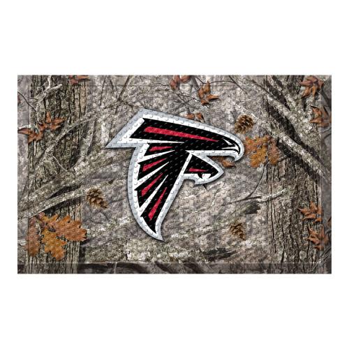 """19"""" x 30"""" Gray and Black NFL Atlanta Falcons Shoe Scraper Door Mat - IMAGE 1"""