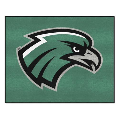 "33.75"" x 42.5"" Green and White NCAA Northeastern State University Riverhawks Rectangular Mat - IMAGE 1"