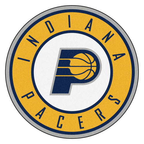"""27"""" Blue and Yellow NBA Indiana Pacers Rounded Door Mat - IMAGE 1"""
