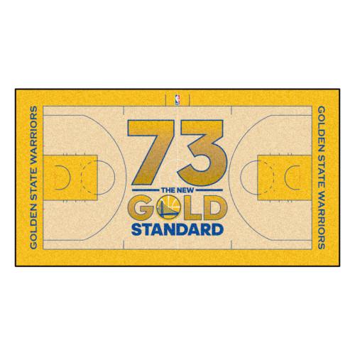 "29.5"" x 54"" Gold NBA Golden State Warriors Court Area Rug Runner - IMAGE 1"