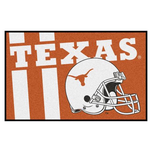 "19"" x 30"" Orange and White NCAA University of Texas Longhorns Starter Door Mat - IMAGE 1"