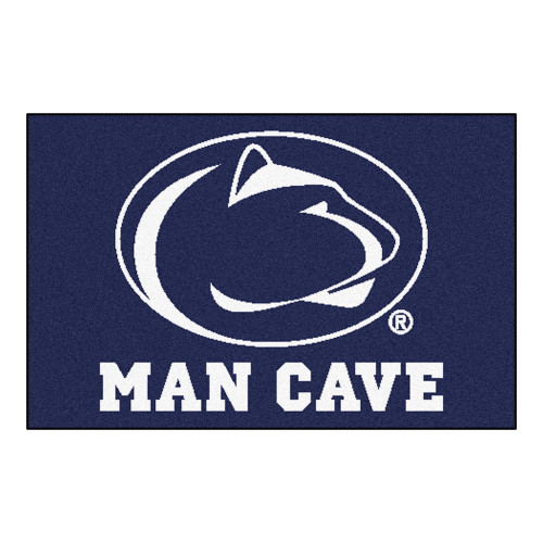 """19"""" x 30"""" Navy Blue and White NCAA Penn State Nittany Lions Man Cave Starter Mat - IMAGE 1"""