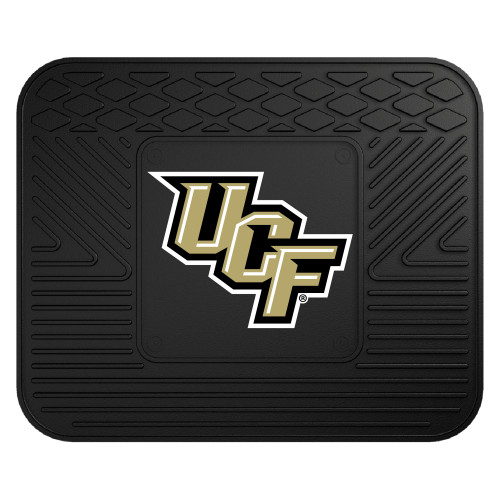 """14"""" x 17"""" Black and Brown NCAA University of Central Florida Knights Car Seat Utility Mat - IMAGE 1"""