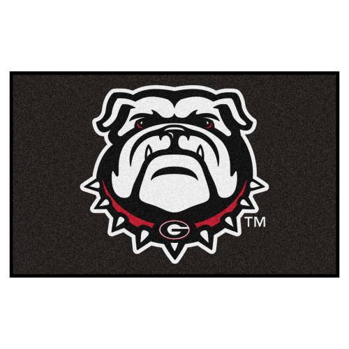 "59.5"" x 94.5""' Black NCAA University of Georgia Bulldogs Ulti-Mat Rectangular Outdoor Area Rug - IMAGE 1"