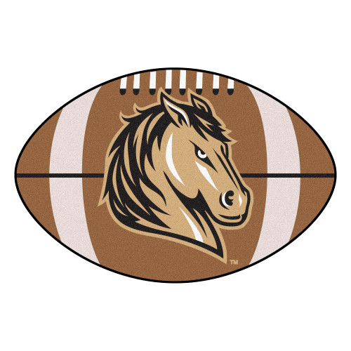 """20.5"""" x 32.5"""" Brown and White NCAA Mustangs Football Mat - IMAGE 1"""