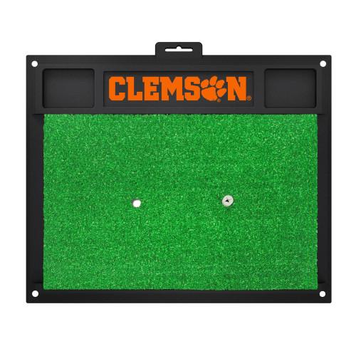 "20"" x 17"" Black and Green NCAA ""Clemson"" University Tigers Golf Hitting Mat Practice Accessory - IMAGE 1"