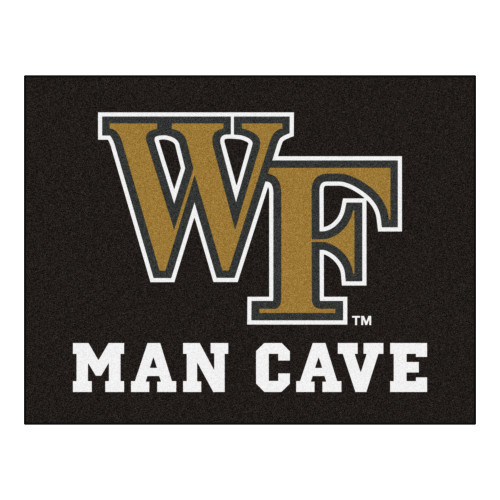 """33.75"""" x 42.5"""" Black and Yellow NCAA Wake Forest University Demon Deacons All-Star Door Mat - IMAGE 1"""