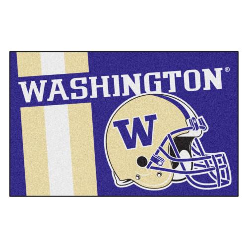 "19"" x 30"" Purple and Beige NCAA University of Washington Huskies Starter Rectangular Door Mat - IMAGE 1"