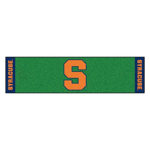 "18"" x 72"" Green and Orange NCAA Syracuse University Golf Mat - IMAGE 1"