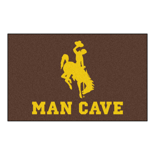 """59.5"""" x 94.5"""" Brown and Yellow NCAA University of Wyoming Cowboys Outdoor Tailgater Area Rug - IMAGE 1"""