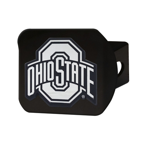 NCAA Ohio State University Buckeyes Black Hitch Cover Automotive Accessory - IMAGE 1