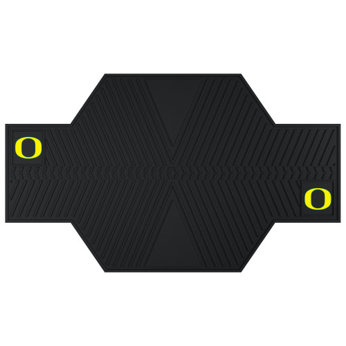 """42"""" x 82.5"""" Black and Yellow NCAA University of Oregon Duck Motorcycle Mat Accessory - IMAGE 1"""