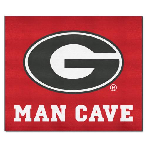 4.9' x 5.9' Red NCAA University of Georgia Bulldogs Man Cave Tailgater Rectangular Area Rug - IMAGE 1