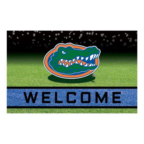 "18"" x 30"" Green and Blue Contemporary NCAA Gators Outdoor Door Mat - IMAGE 1"
