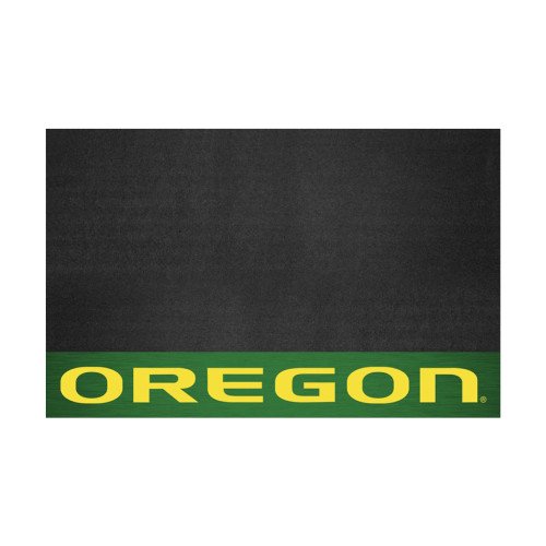 """26"""" x 42"""" Green and Yellow NCAA University of Oregon Ducks Grill Tailgate Mat Outdoor Area Rug - IMAGE 1"""