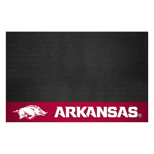 "26"" x 42"" Black and Red NCAA ""Arkansas"" Razorbacks Grill Mat Tailgate Accessory - IMAGE 1"