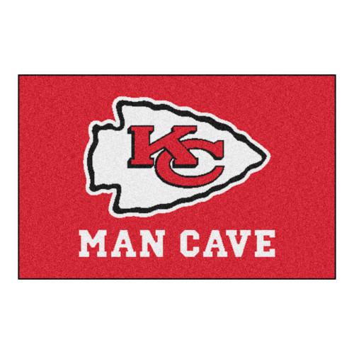"19"" x 30"" Red and White NFL Kansas City Chiefs ""Man Cave"" Starter Door Mat - IMAGE 1"