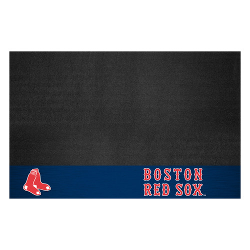 """26"""" x 42"""" Black and Red MLB Boston Sox Grill Mat Tailgate Accessory - IMAGE 1"""