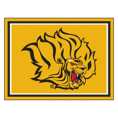8' x 10' Gold and Red NCAA Bluff Lions Foot Plush Non-Skid Area Rug - IMAGE 1