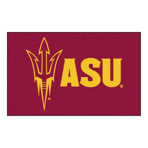 "59.5"" x 94.5"" Red and Yellow NCAA Arizona State University Sun Devils Area Rug - IMAGE 1"