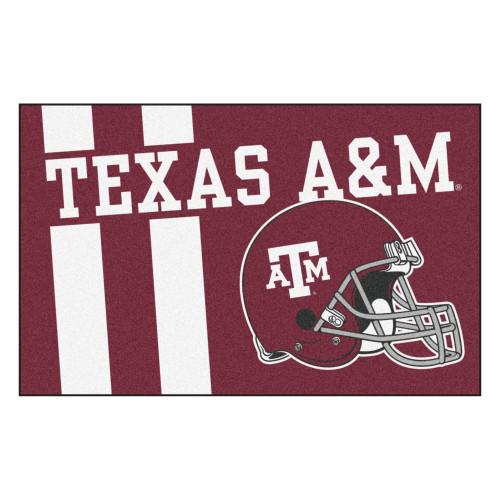 "19"" x 30"" Red NCAA Texas A and M University Aggies Starter Door Mat - IMAGE 1"