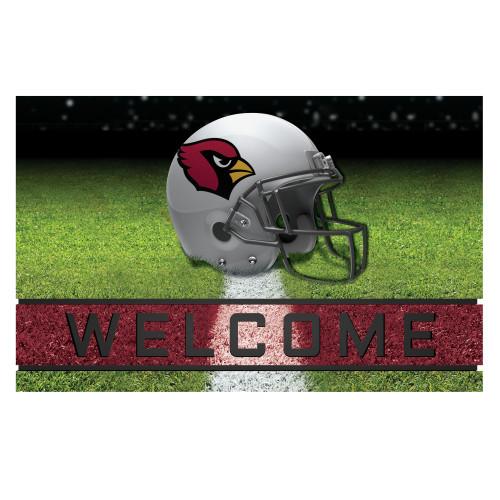 "18"" x 30"" Green and Red Contemporary NFL Cardinals Outdoor Door Mat - IMAGE 1"