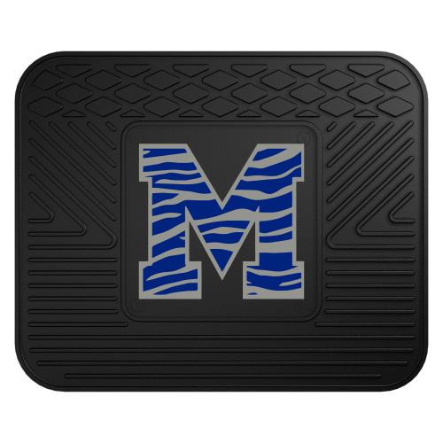 "14"" x 17"" Black and Blue NCAA University of Memphis Tigers Car Seat Utility Mat - IMAGE 1"