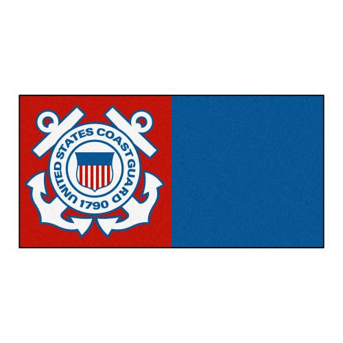 "20pc Red and Blue U.S. Coast Guard Team Carpet Tile Set 18"" x 18"" - IMAGE 1"