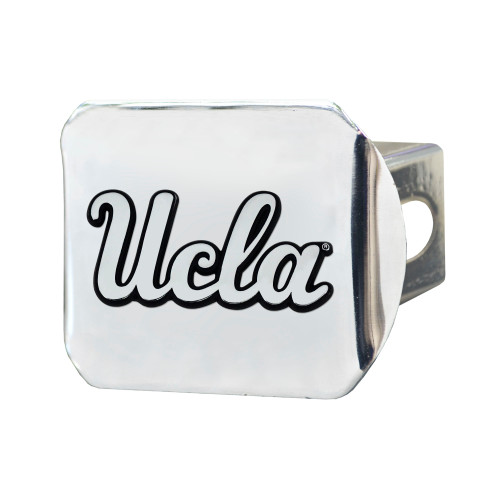 """4"""" Silver and Black NCAA University of California Los Angeles Bruins Hitch Cover - IMAGE 1"""