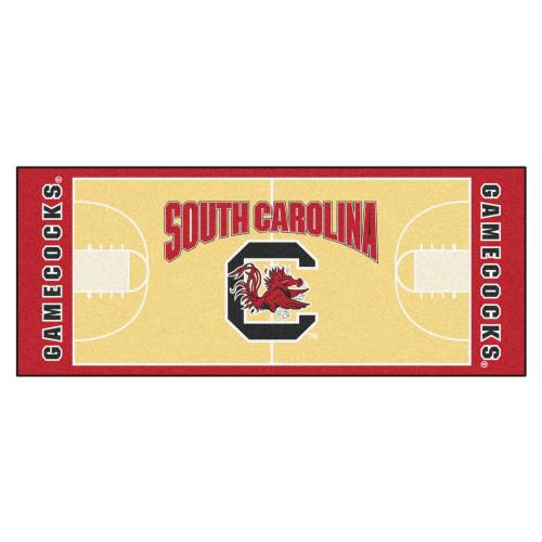 "30"" x 72"" Red University of South Carolina Gamecocks NCAA Basketball Area Rug Runner - IMAGE 1"