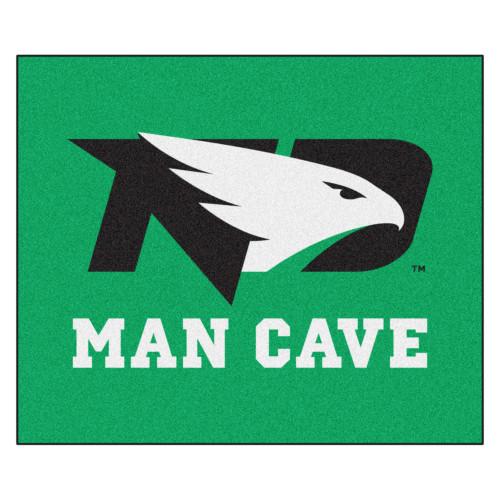 4.9' x 5.9' Green NCAA University of North Dakota Fighting Hawks Man Cave Tailgater Area Rug - IMAGE 1