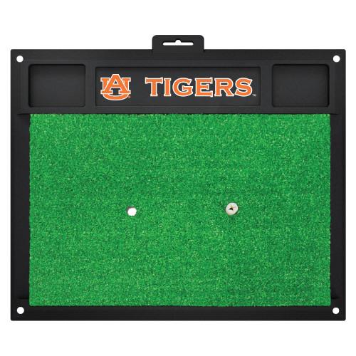 "20"" x 17"" Black and Green NCAA Auburn University ""Tigers"" Golf Hitting Mat Practice Accessory - IMAGE 1"